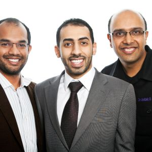Ash with Mohammed and Chetan dentist